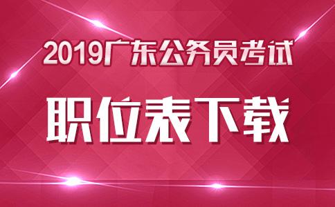2019广东省公安机关考试录用人民警察职位表(2796人)