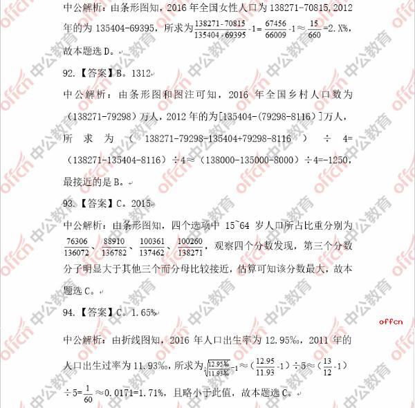 2020深圳公务员行测资料分析